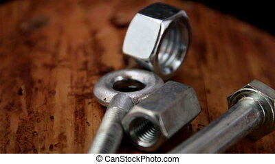 Set of bolts and screws
