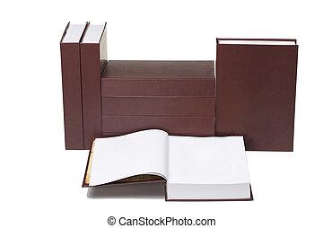 Set of books.