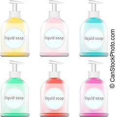set of bottles for soap