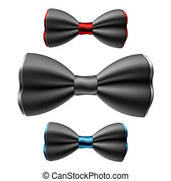 Set of bow ties - Vector illustration of set of bow ties