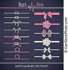 Set of bows and knots