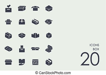 Set of box icons
