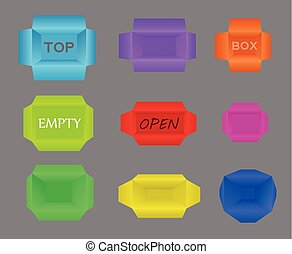 3072b29fe37 Isometric craft boxes of different sizes for packaging