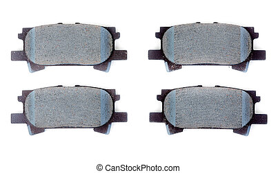 Set of brake pads, isolate on white