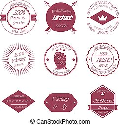 Set of Brand Design Badge and Label Vector