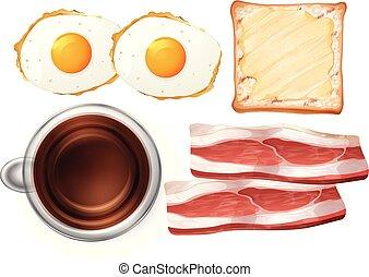 Set of breakfast food illustration