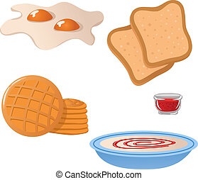 Set of breakfast icons