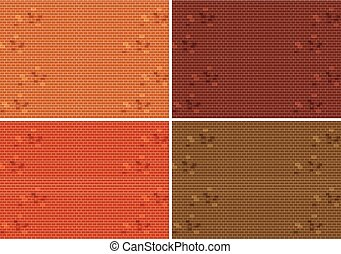 Set of brick wall texture
