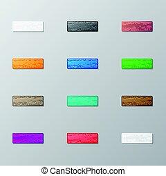 Set of bricks