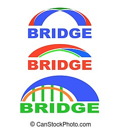 Set of Bridge Icons Isolated. Bridge Logo.