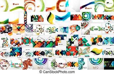 Set of bright color wave templates, vector bundle