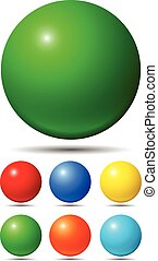 Set of bright colored balls
