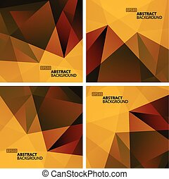 Set of Bright Colorful Abstract Geometric Backgrounds