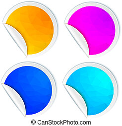 Set of bright stickers isolated on a white background. Vector il