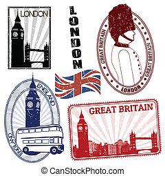 Set of British stamps