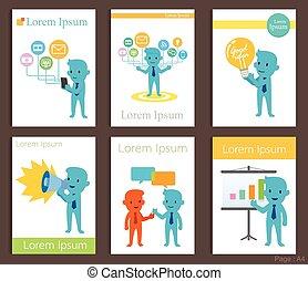Set of Brochure Design business communication Templates.