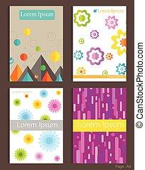 Set of Brochure Design Geometric colorful Templates