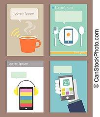 Set of Brochure Design modern life style Templates