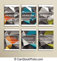 Set of brochures for design in abstract style