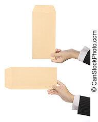 Set Of Brown Envelope