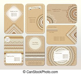 Set of brown shades vector design templates