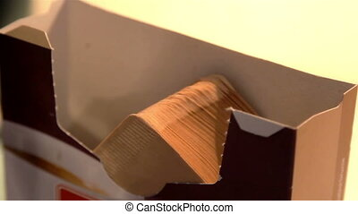 Set of brown tissue paper