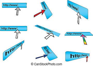 browser adress bar - set of browser adress bar vector...