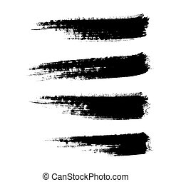 set of brushes - four hand drawn paintbrushes, vector...