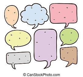 set of bubble speech doodle