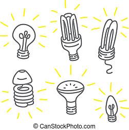 set of bulb
