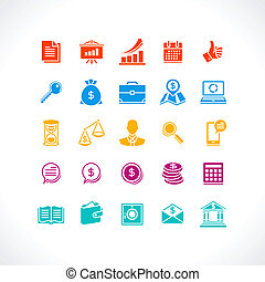 Set of business and money web icons.