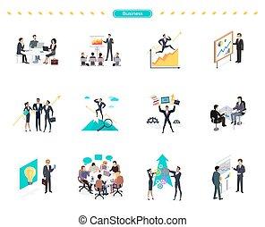 Set of Business Banner Teamwork