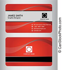 Set of business cards Stock