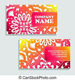 Set of cards, flyers, brochures, templates with hand drawn