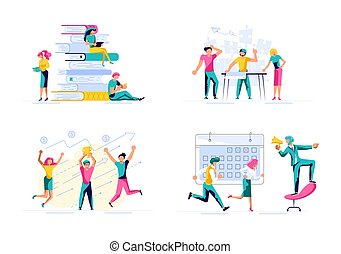 Set of Business concept