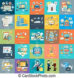 Set of business concepts on banners - Set of business...