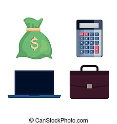 set of business finance icons