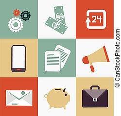 set of business icons illustration
