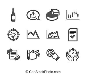 Set of Business icons, such as Blood donation, Feedback, Beer. Vector