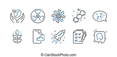 Set of Business icons, such as Coffee, Smartphone cloud, Versatile. Vector