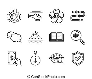 Set of Business icons, such as Confirmed, Methodology, Search text. Vector