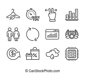 Set of Business icons, such as Cpu processor, Restroom,...