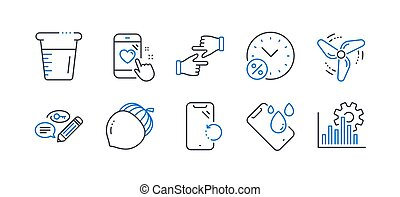 Set of Business icons, such as Keywords, Smartphone recovery, Acorn. Vector