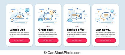 Set of Business icons, such as Payment methods, Ole chant, ...
