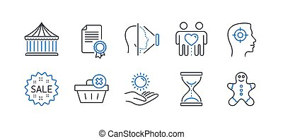 Set of Business icons, such as Sun protection, Time ...