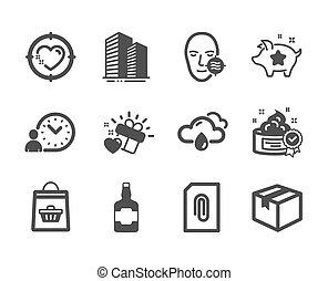 Set of Business icons, such as Time management, Skyscraper ...