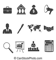 set of business icons, vector