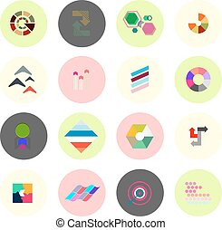 Set of business infographics, icons, shapes