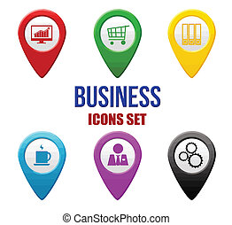 Set of business locators icons