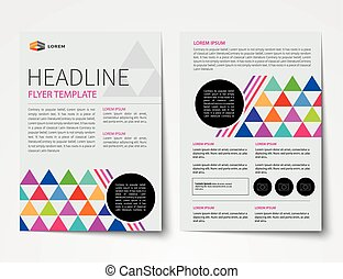 set of business magazine cover , flyer, brochure flat design templates
